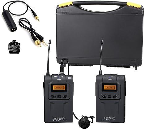 Amazon Com Movo Wmic70 Wireless Lavalier Microphone System 48