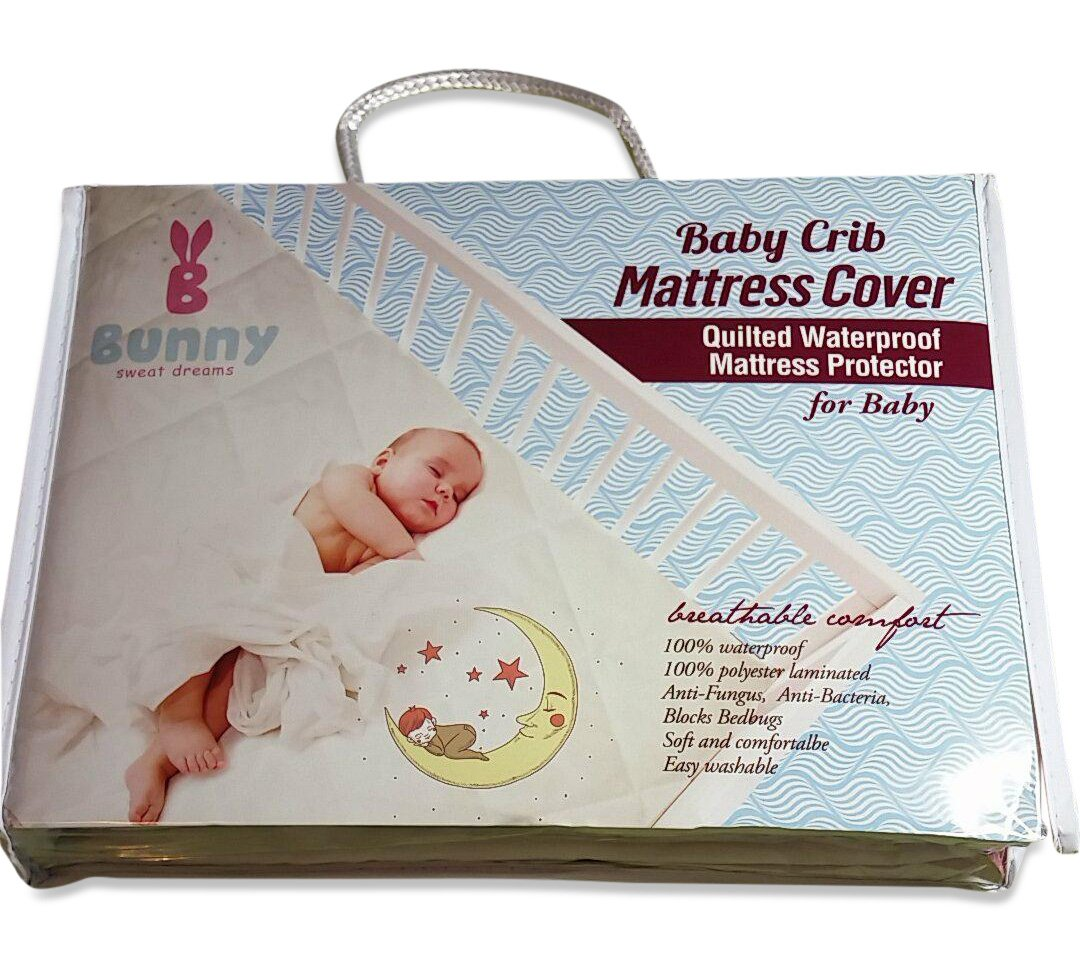 amazon com waterproof baby crib mattress protector by bunny our