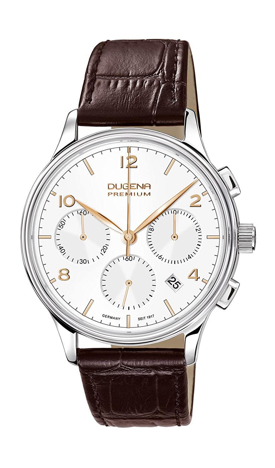 Herren Traditional Armbanduhr Chronograph Leder 7000242 Analog Classic Quarz Dugena Minor qc35LSRj4A