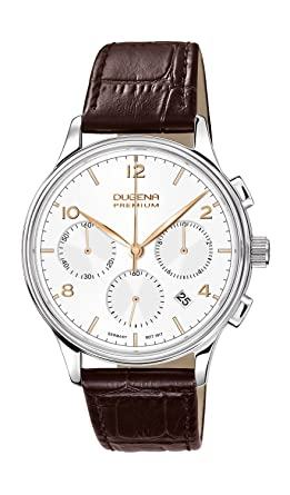 Dugena Premium 7000242 Lederarmband Chronograph mit Saphirglas