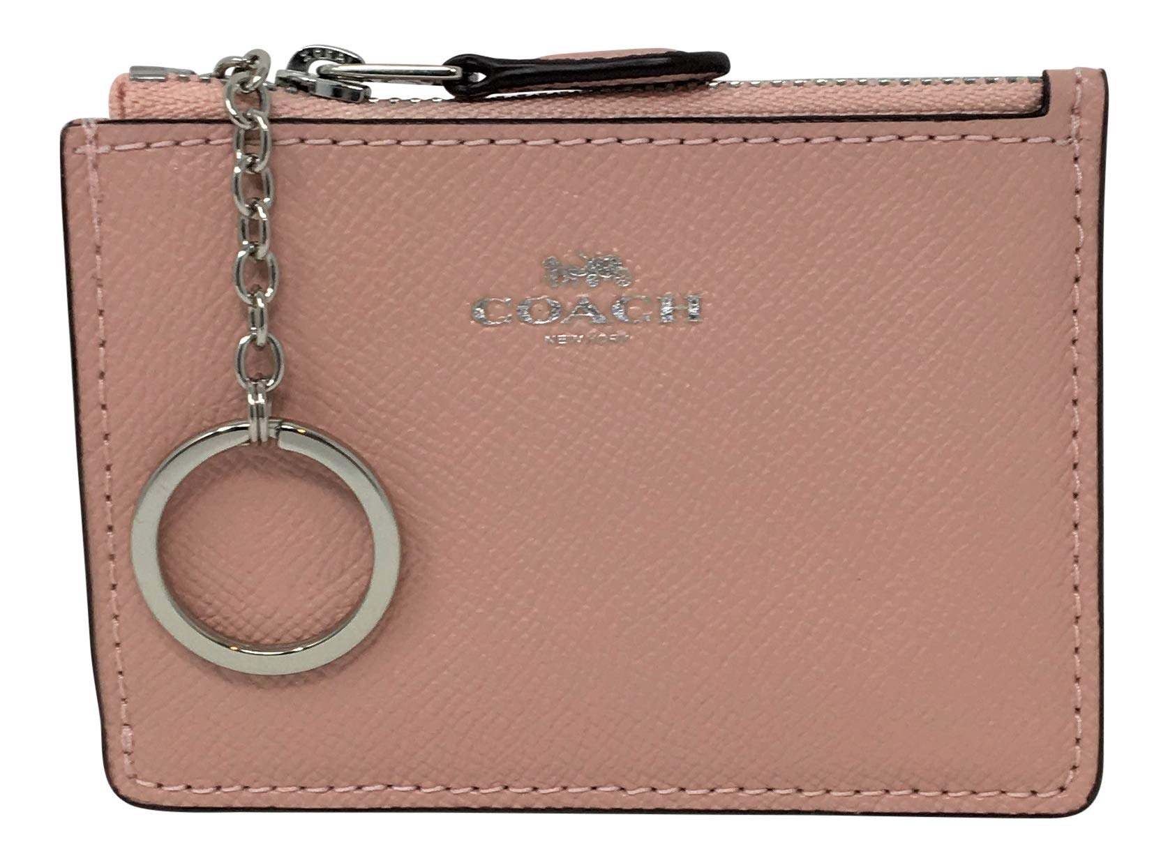 Coach F12186 Mini Skinny ID Case In Crossgrain Leather Petal