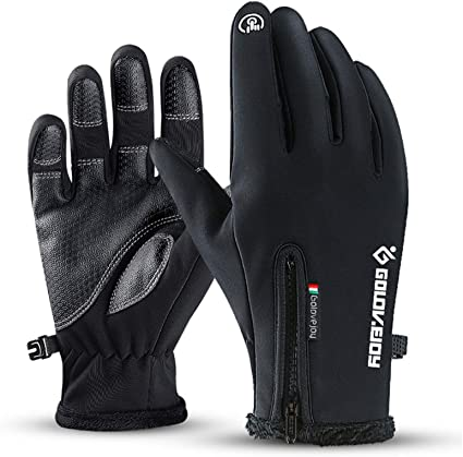 Touch Screen Full Finger Gloves Waterproof Fleece Thermal Winter Cycling Outdoor
