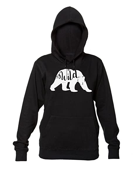 Wild Bear Walking In The Snow Mujeres sudadera con capucha: Amazon.es: Ropa y accesorios
