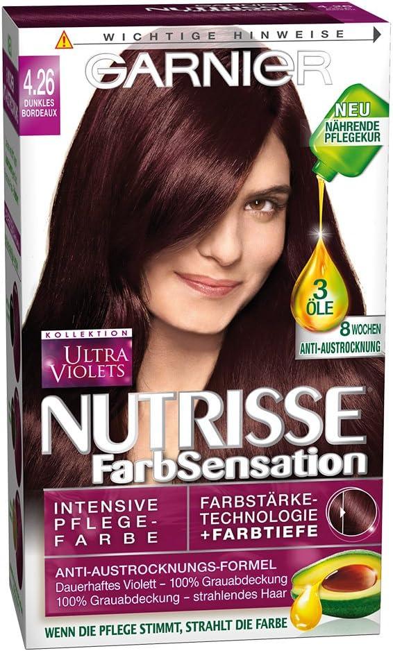 Garnier nutrisse Color SCRHTSENSA – Tion 4.26 Burdeos oscuro ...