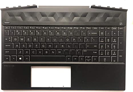 Replacement Part For New HP Pavilion 15-AU Palmrest Touchpad Cover UK QWERTY Keyboard 856026-031 Laptronics
