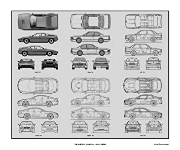 Amazon bmw m series blueprint collection print car art gift bmw m series blueprint collection print car art gift 20x24 malvernweather Choice Image