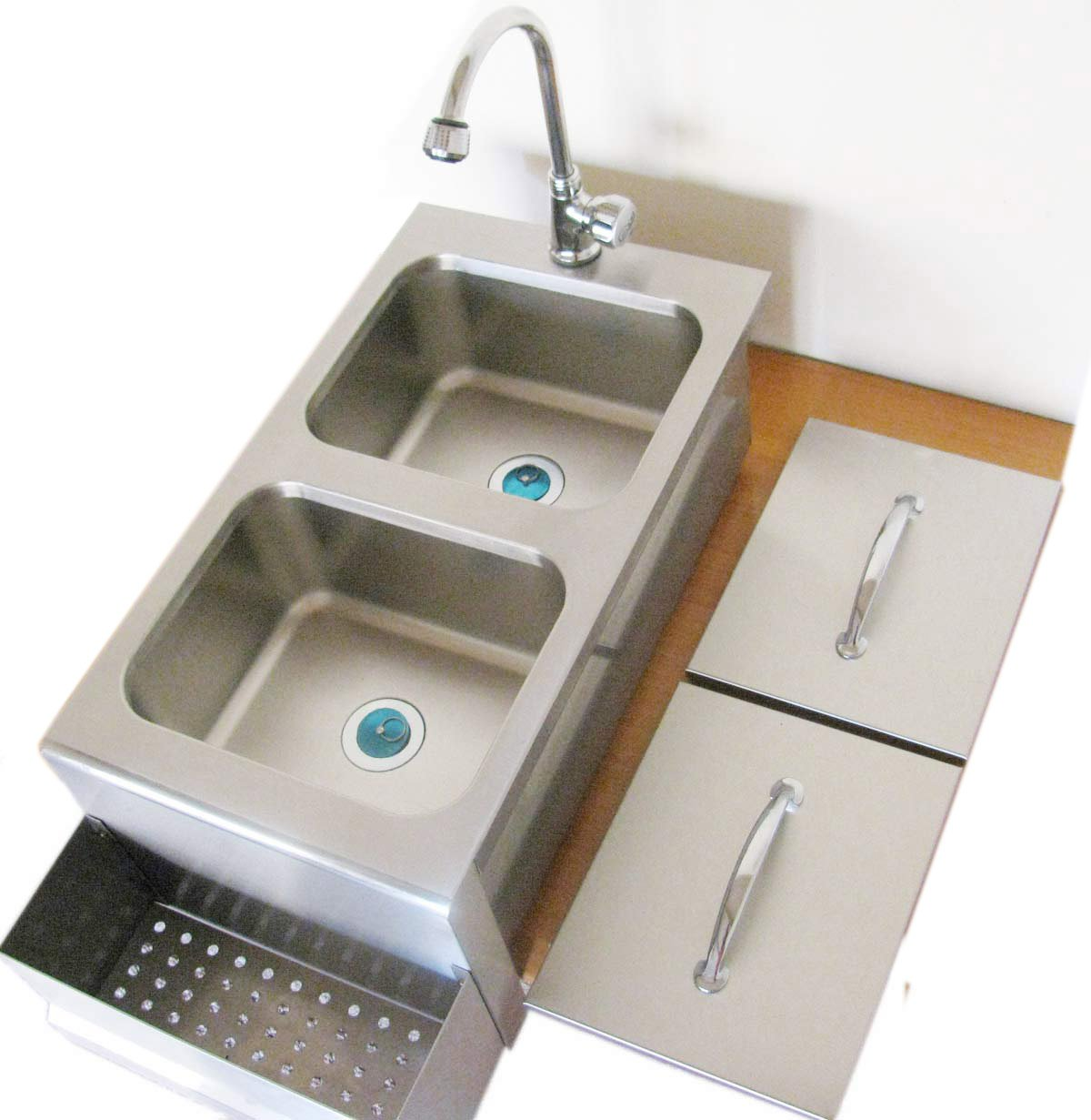 SUNSTONE A-CS14 14-Inch Cocktail Station with Sink