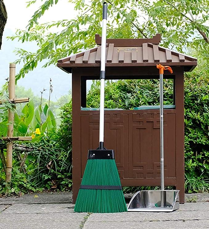 YUDEYU Escoba Casa Pelo Duro Telescópico Barriendo El Jardin Hojas Caídas Al Aire Libre Barrer El Piso Escoba Grande (Size : 122x30cm): Amazon.es: Hogar