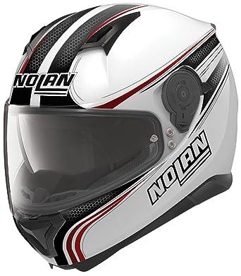 Nolan N87 Rapid Integral Casco Moto policarbonato N- Com – Metal Blanco Tamaño L