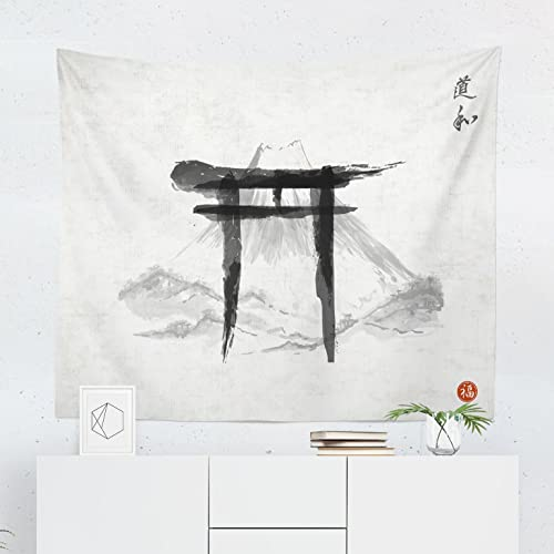 5e02475b6192e Japanese Tapestry - Oriental Asian Japan Mt Fuji Wall Tapestries Hanging  Décor Bedroom Dorm College Living