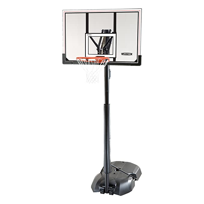 9. Lifetime 51544 Front Court Portable Basketball System, Shatterproof Backboard