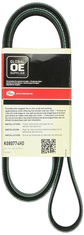 Auto V-Belt,Industry Number K080780HD GATES K080780HD