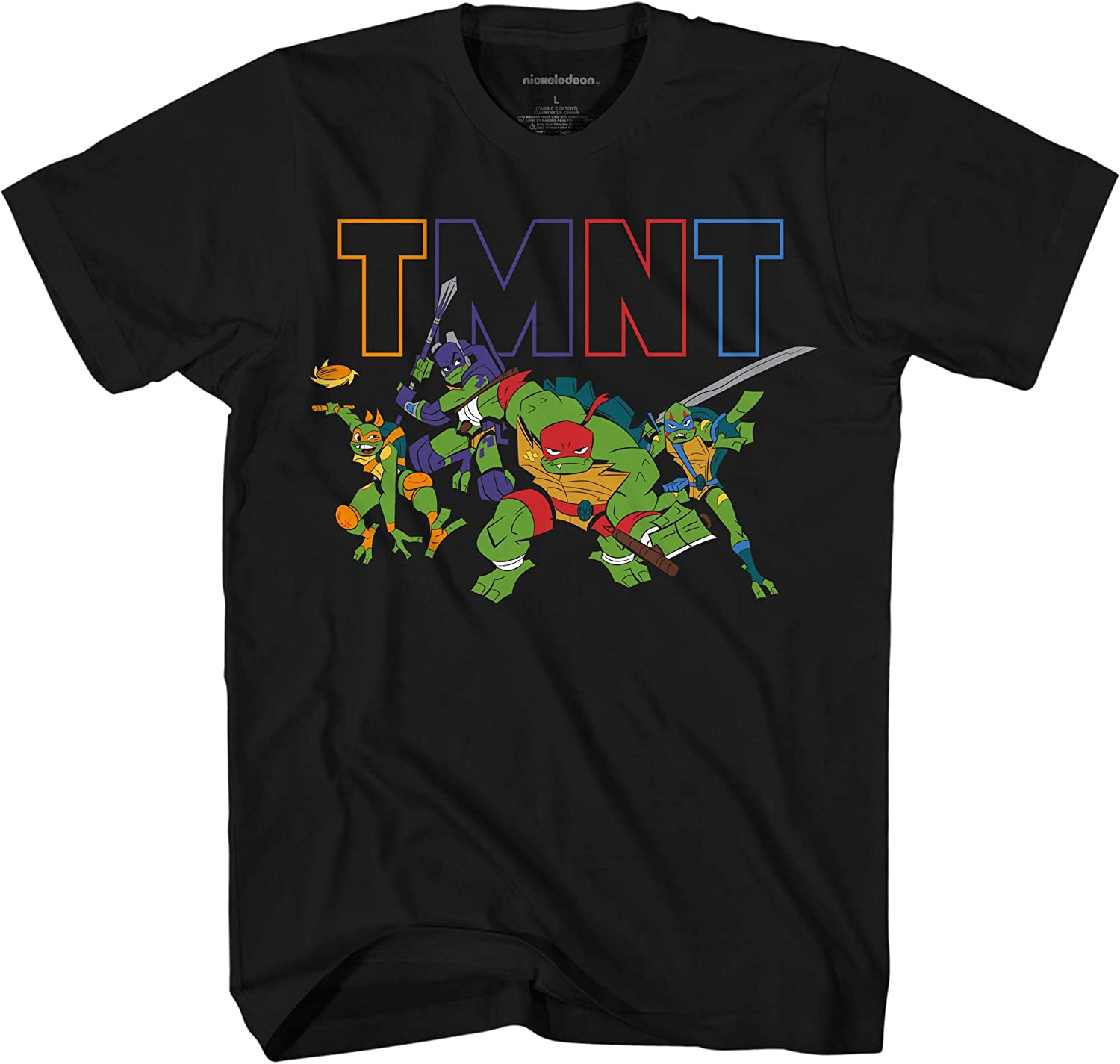 Teenage Mutant Ninja Turtles Boys' Little Rise TMNT T-Shirt
