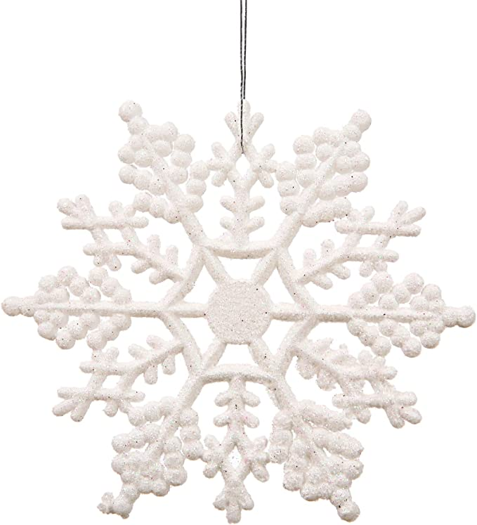 60 POLYSTYRENE CHRISTMAS WHITE SNOWFLAKE IN HD 6 DESIGNS 200MM HEIGHT 10MM THICK