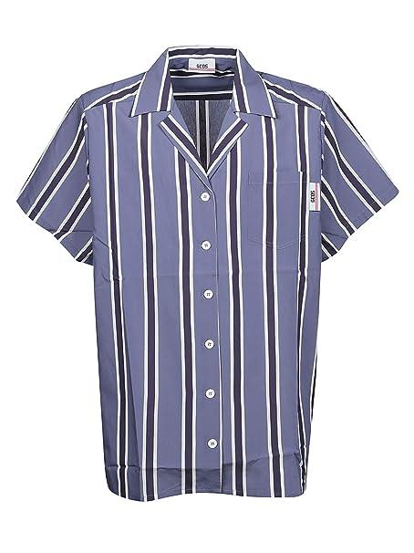 Camicia Blu Viscosa Ss19m02000108 Uomo Gcds qSGMVzpU