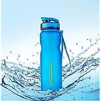 Qrity Botella de Agua Deportiva, 1 Litro Botella de Agua Deportiva BPA Gratis para Acampar al Aire Libre en Interiores al Aire Libre