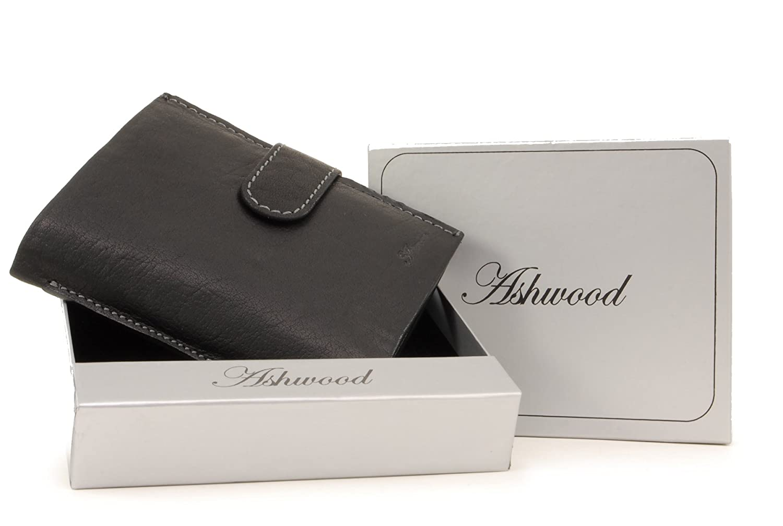 e8e9fd7b84221 Ashwood Tri Fold Coin Wallet   Gift Box - Buffalo Leather - 13 pocket extra  capacity - 4 credit card section