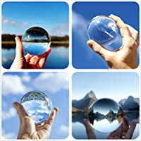 Clear Crystal Ball with Stand Art Decor K9 Crystal Prop for Photography Decoration Gift