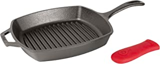 product image for Lodge Manufacturing Company Lodge Cast Iron 10.5-inch Square Grill Pan, Black
