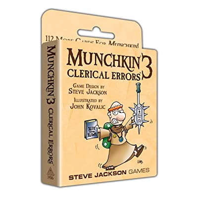 Munchkin 3 - Clerical Errors: Toys & Games