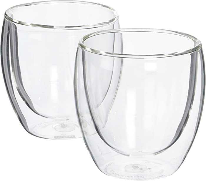 Bodum Pavina Glass, Double-Wall Insulated Glasses, Clear, 8 Ounces Each (Set of 2)