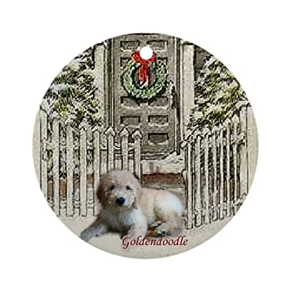 cafepress goldendoodle christmas ornament round round holiday christmas ornament