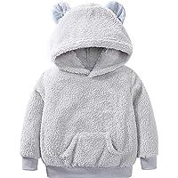 YCYU Sudadera con capucha para niños y niñas, de manga larga, con diseño de oso