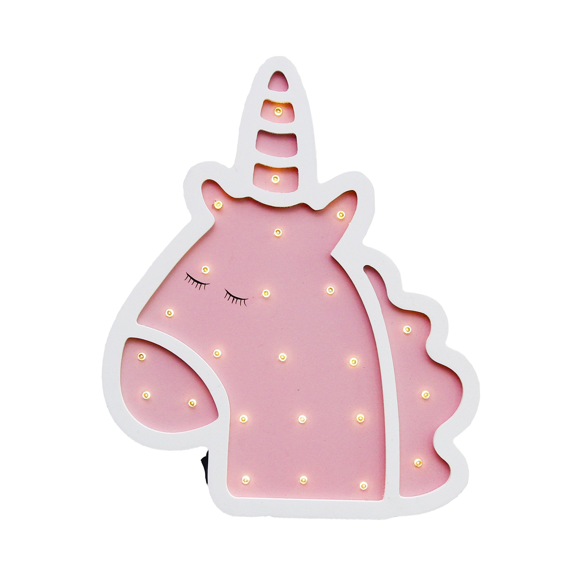 Unicorn Light Unicorn Party Supplies Battery Operated Unicorn LED Night Light Unicorn Lamp Unicorn Table Decorations for Wall Decoration,Kids' Room,Living Room,Bedroom,Christmas (Pink and white)