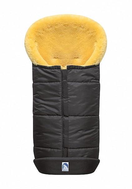 Heitmann - Saco para carrito de bebé (pelo de cordero), color gris