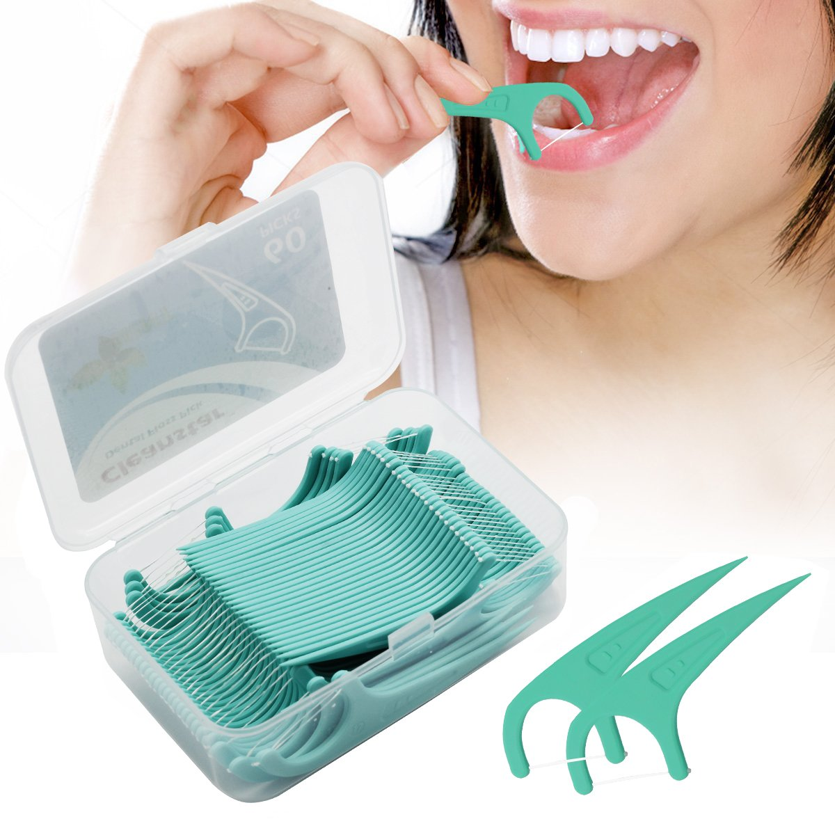 Hilo Dental, Nuobk 180 Pieza Dental Floss Seda de dientes, Disposable Cuidado de dientes Interdental Oral Limpieza Flossers: Amazon.es: Salud y cuidado ...