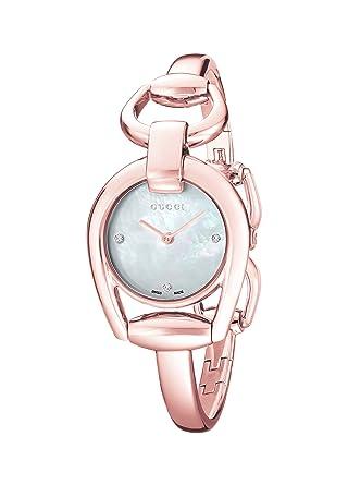 8988cb0f1c608 Amazon.com: Gucci Horsebit Analog Display Swiss Quartz Rose Gold ...