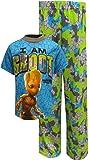 Marvel Boys' Little Groot 2-Piece Pajama Set, Blue, 4