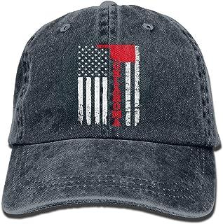 Yuerb Cappellini Baseball USA Oklahoma Flag Denim Hat Adjustable Women Washed Baseball cap