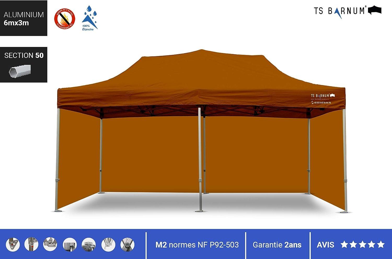 Barnum - Carpa plegable de aluminio #50 - Barnum - Pérgola plegable - Pabellón - Sombrillas, toldos y toldos - Muebles de jardín, color marrón, tamaño 6m x 3m (M2), 108.03, 66.14 x 12.99 x 22.83inches: Amazon.es: Jardín