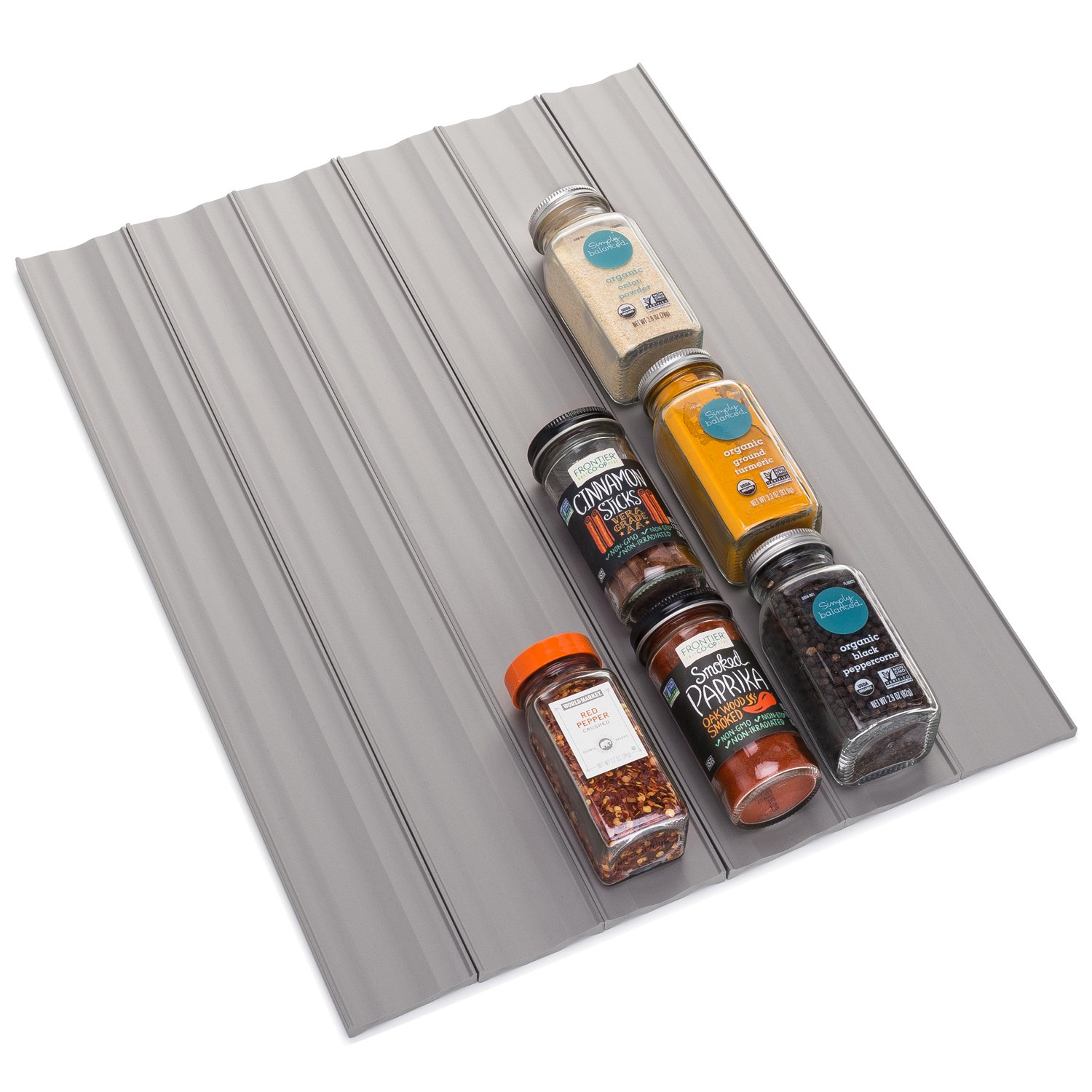 youcopia Spice Organizers, SpiceLiner 6-Pack, Warm Gray 11046-32-WGY