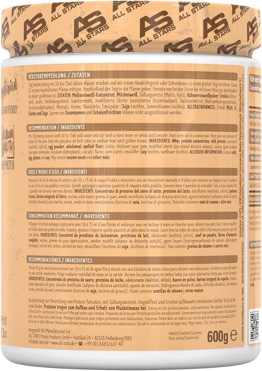All Stars Pancake Protein Mix, 600 g Dose, Complete Pancake Mix