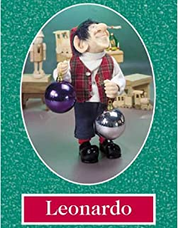 """product image for Zims 10.5"""" The Elves Themselves Leonardo Collectible Christmas Elf Figure"""