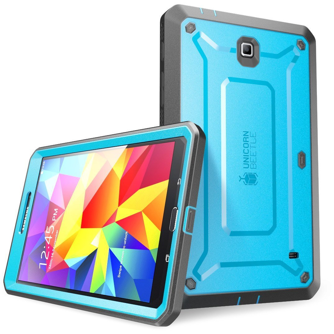 SUPCASE Samsung Galaxy Tab 4 7.0 Case - Unicorn Beetle PRO Series Full-body Hybrid Protective Case with Screen Protector (Blue/Black), Dual Layer Design/Impact Resistant Bumper