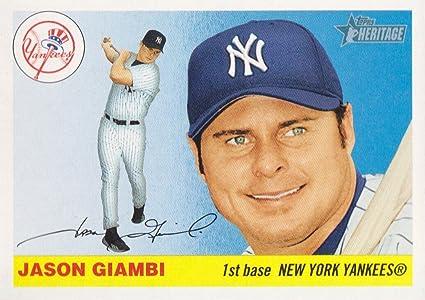 2004 Topps Heritage Baseball 10a Jason Giambi Swinging