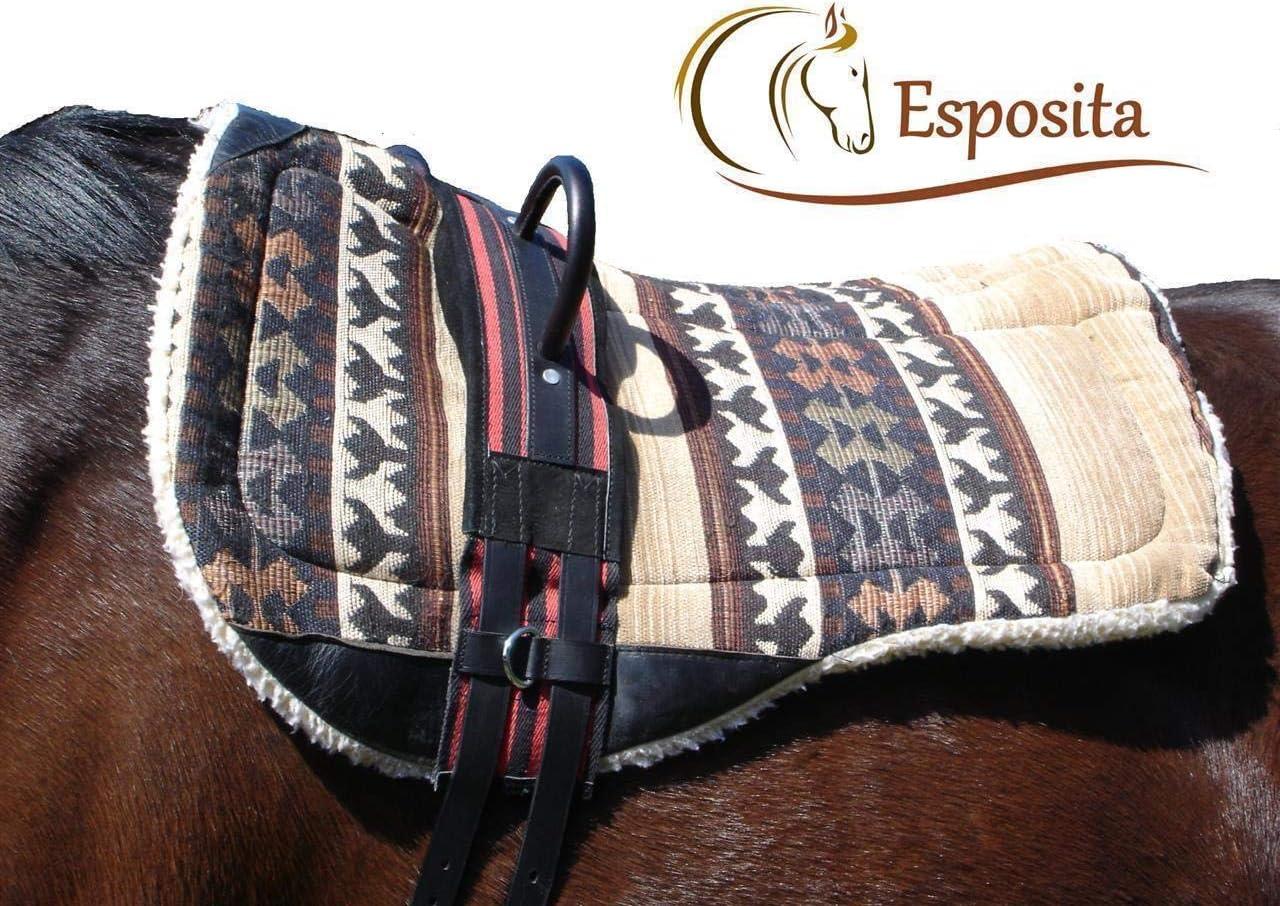Esposita Correa de equitación, equitación Ayuda con Dos Estable Piel Giffen–Rojo y Negro