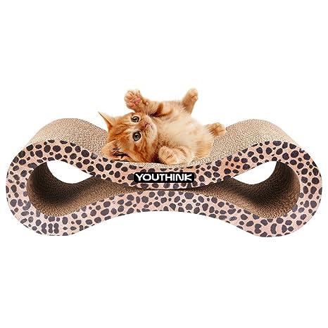 Rascador para Gato, Juguete Divertido, Salón de Catnip Durable con Cartón Corrugado Reversible para