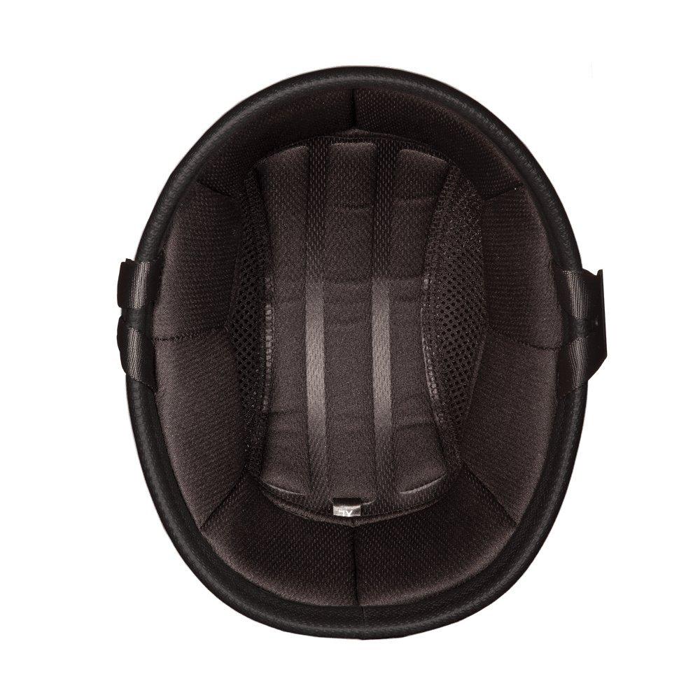 Daytona Helmets Eagle Skull Cap Half Shell Motorcycle Helmet (Dull Black, Large) with Head Wrap and Draw String Bag