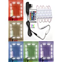 Citra LED Vanity Mirror Lights Kit Image Hollywood Style Cosmetic Lights with Dimmer Controller and Strip Sticker 13ft 75 LEDs Plug in 16 Colours with Remote Control