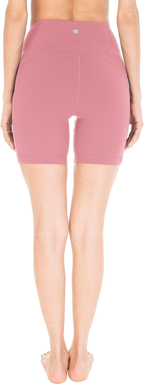 QUEENIEKE 6 Inseam Power Flex Pantalones Cortos para Correr con 3 Bolsillos y Cintura Alta para Mujeres de Entrenacimiento