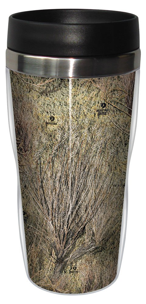 Tree-Free Greetings 77612 Brush Pattern by Mossy Oak Camo Vintage Art Sip N Go Travel tumbler Stainless Steel Multicolored Tree Free SG77612 16-Ounce