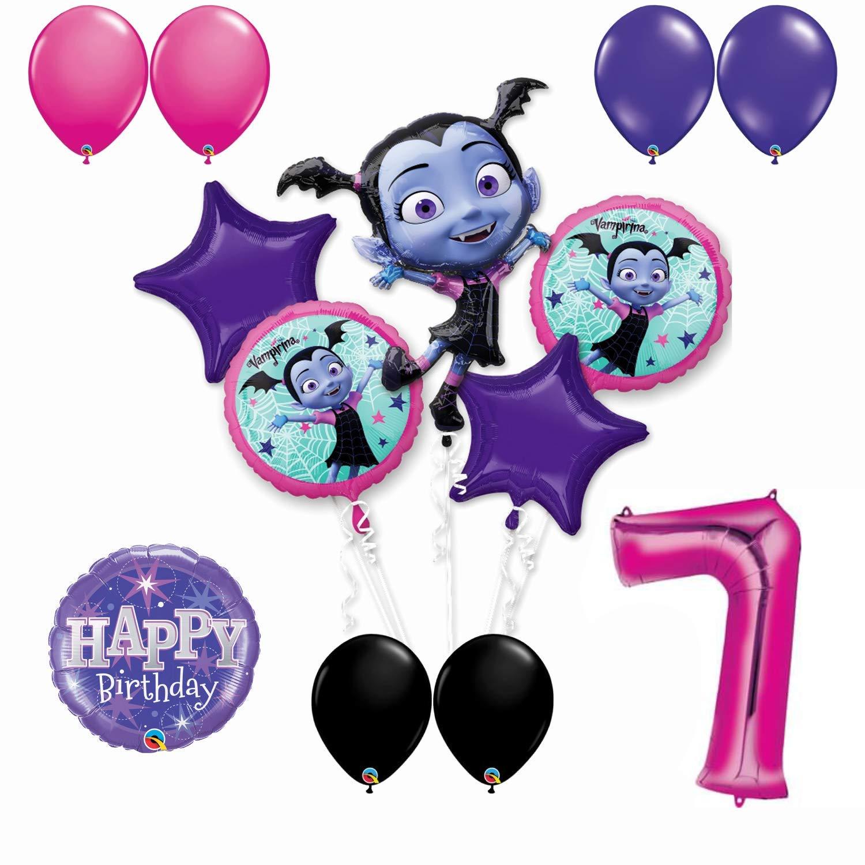 Amazon Vampirina 7th Birthday Party Balloon Bouquet Bundle For Age 7 Includes 13 Balloons Toys Games