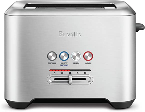 Breville Bta730xl Bit More 4 Slice Toaster Brushed Stainless Steel Kitchen Dining