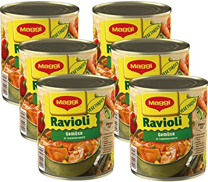 Maggi verduras de raviolis en lata de tomate Sauce, (6 unidades x 800 g