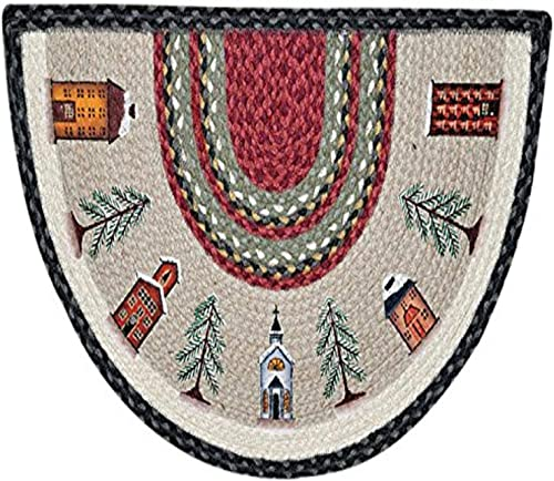 Earth Rugs 32-338 Winter Village Slice Rug, 18-Inch by 29-Inch, Burgundy Olive Charcoal