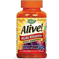 Nature's Way Alive!® Adult Premium Gummy Multivitamin, Fruit and Veggie Blend (150mg per serving), Full B Vitamin Complex, Gluten Free, Made with Pectin, 90 Gummies